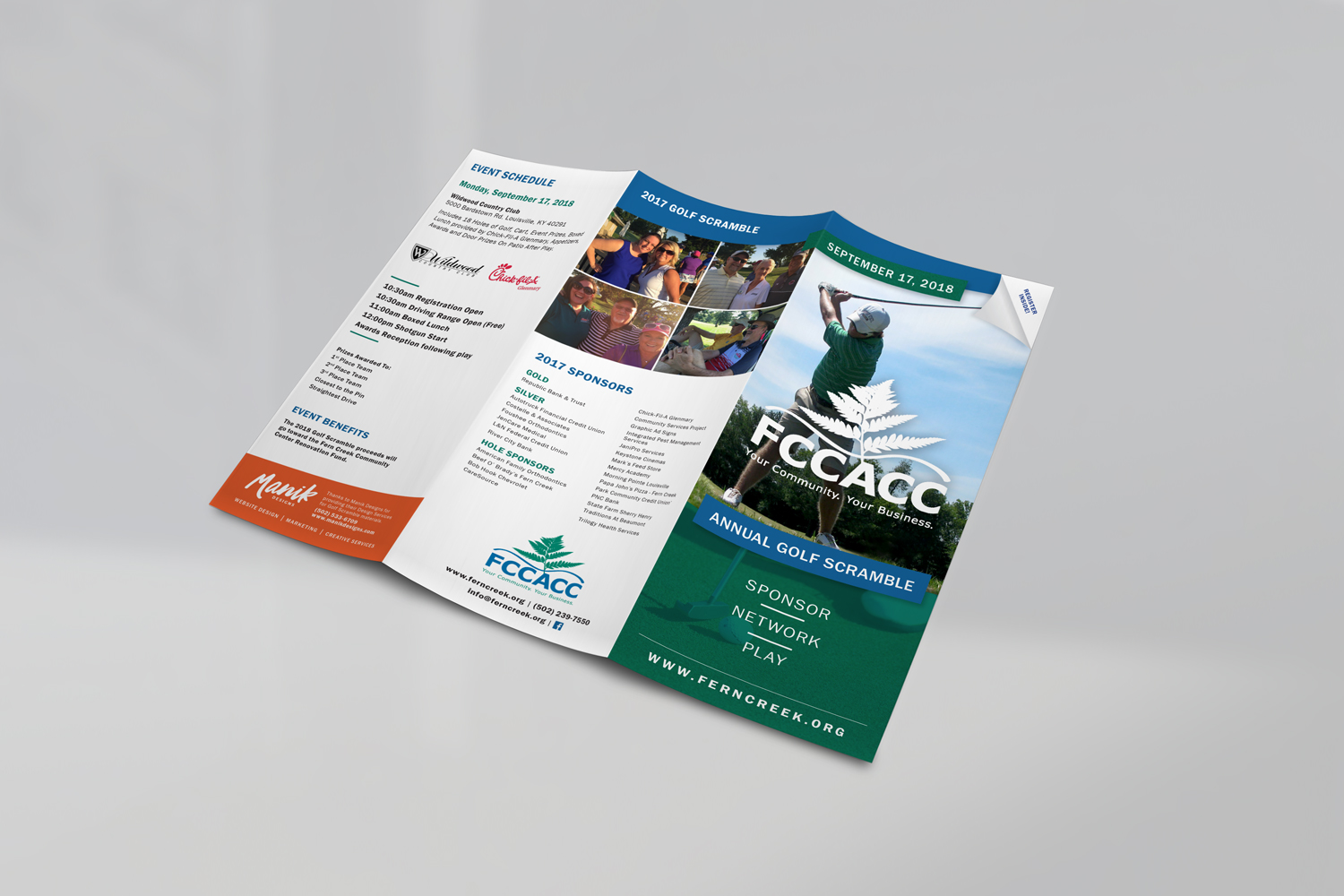 golfing brochure marketing
