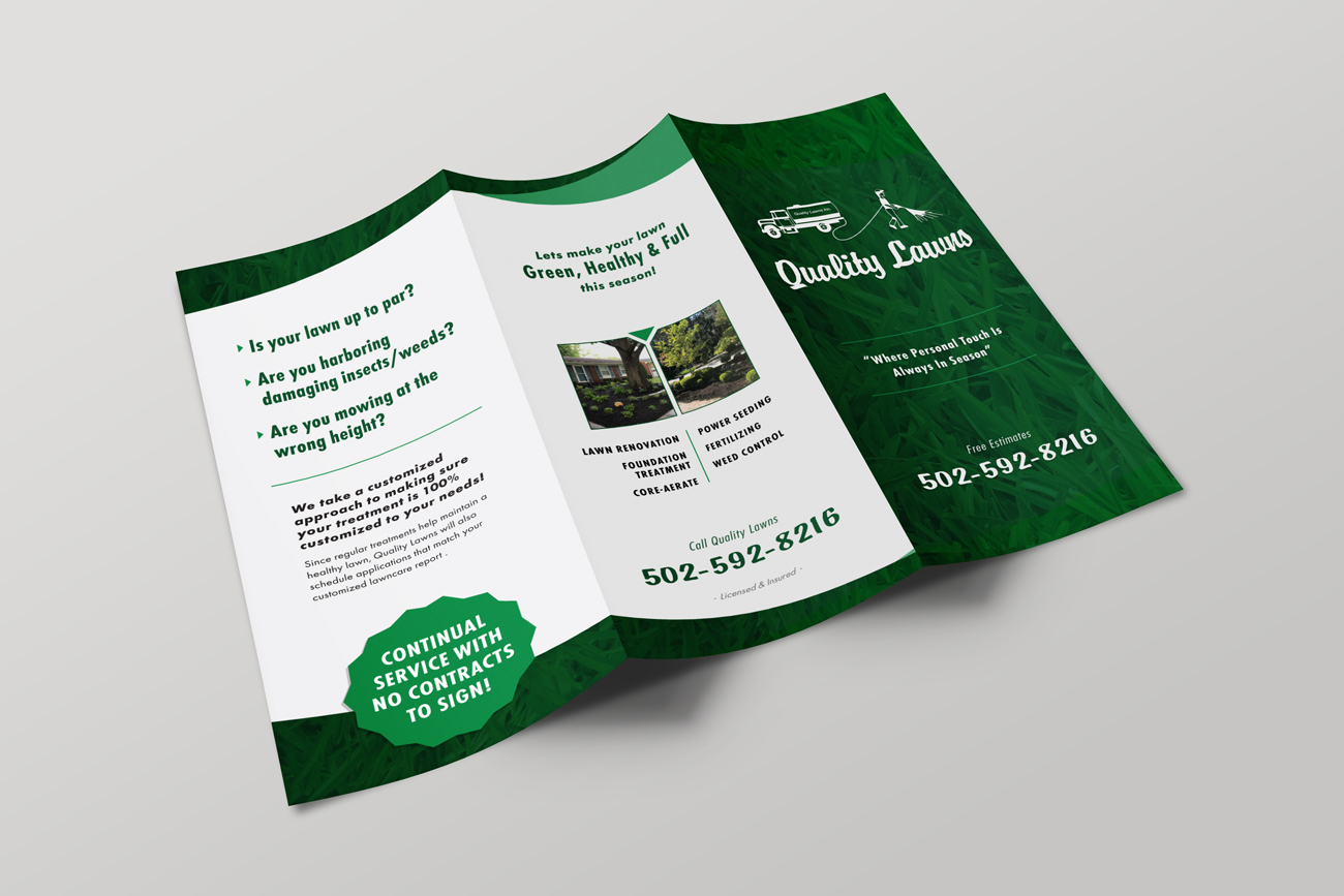lawn care brochure louisville