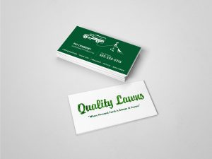 lawn care business cards louisville