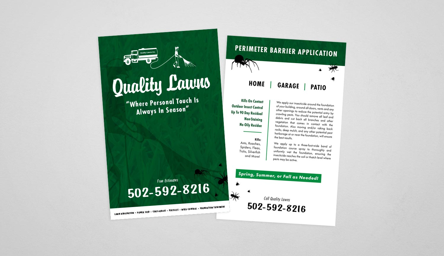 lawn care marketing flyer louisville