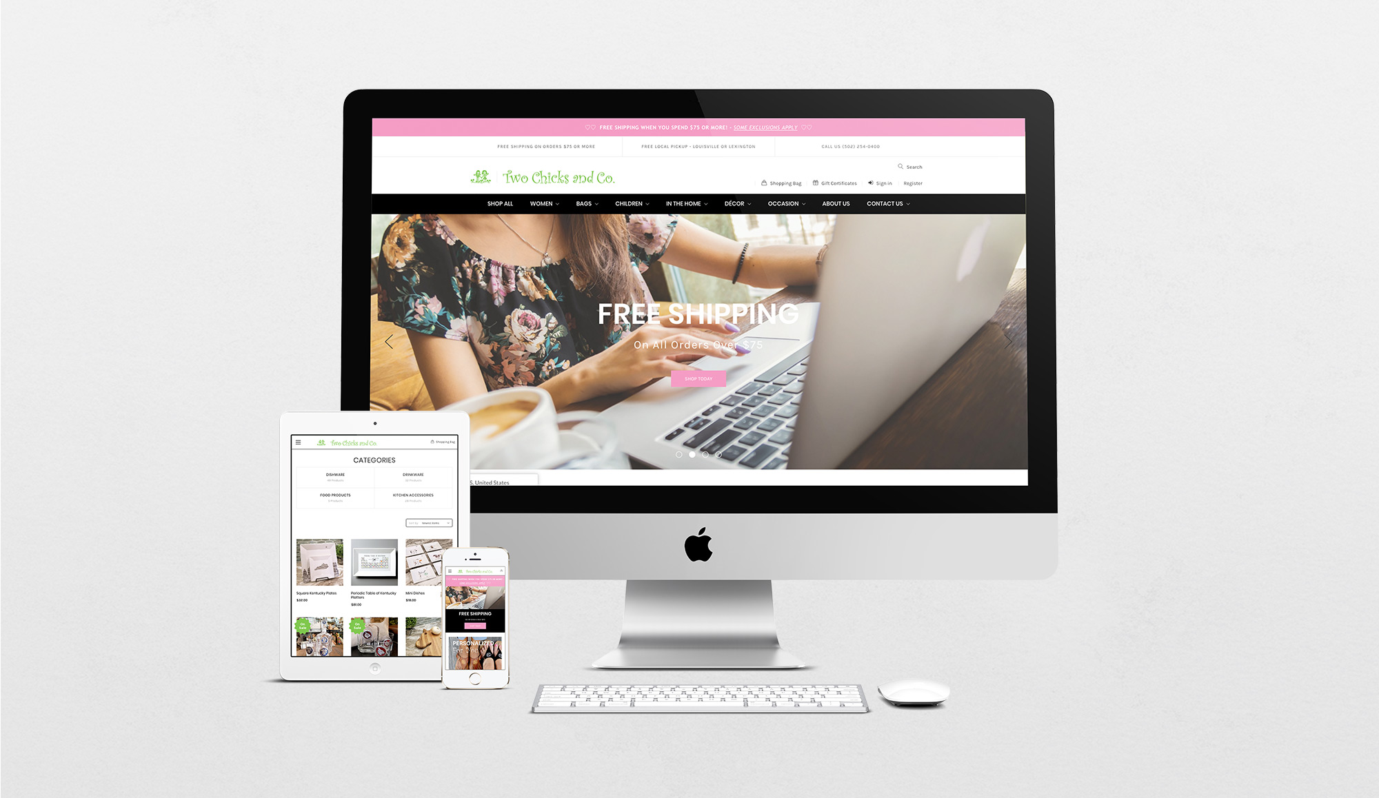 Two chicks website-mockup